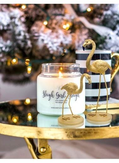 The Mia Biblo - Flamingo Gold Küçük 9.5x8x16 Cm Altın